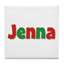 Jenna Christmas Tile Coaster