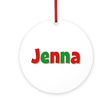 Jenna Christmas Round Ornament