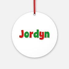 Jordyn Christmas Round Ornament