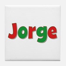 Jorge Christmas Tile Coaster