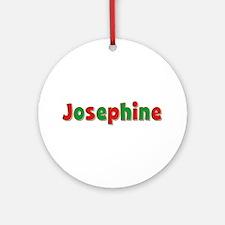 Josephine Christmas Round Ornament