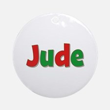 Jude Christmas Round Ornament