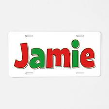 Jamie Christmas Aluminum License Plate