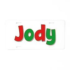 Jody Christmas Aluminum License Plate