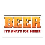 Beer for Dinner Postcards (Package of 8)