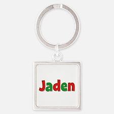 Jaden Christmas Square Keychain