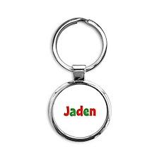 Jaden Christmas Round Keychain