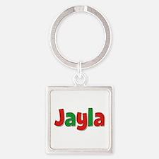 Jayla Christmas Square Keychain