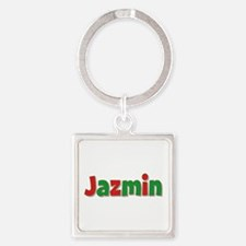 Jazmin Christmas Square Keychain