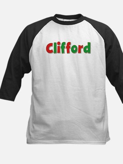 Clifford Christmas Kids Baseball Jersey