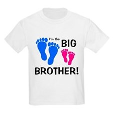 Big Brother Baby Footprints T-Shirt