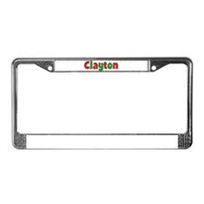 Clayton Christmas License Plate Frame