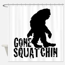 Gone Squatchin print 3 Shower Curtain