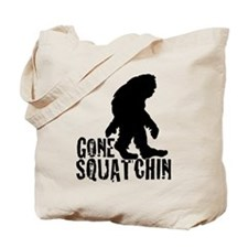 Gone Squatchin print 3 Tote Bag