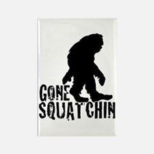 Gone Squatchin print 3 Rectangle Magnet