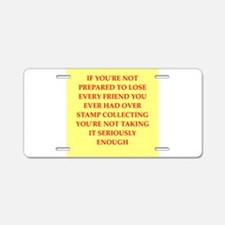 stamp collecting Aluminum License Plate