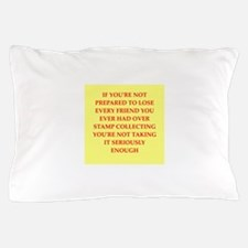 stamp collecting Pillow Case