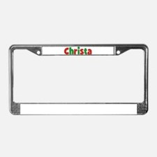 Christa Christmas License Plate Frame