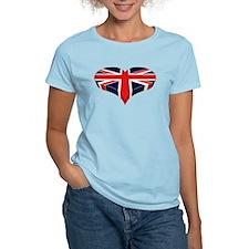 Union Jack Heart / I love Great Britain T-Shirt