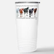 Funny Black horse Travel Mug