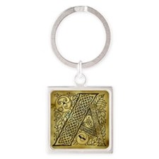Celtic Letter A Square Keychain