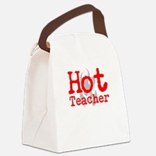 Hot Teacher Canvas Lunch Bag