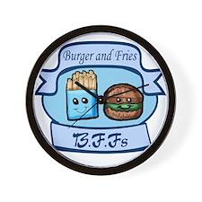 Burger and Fries BFFs Wall Clock