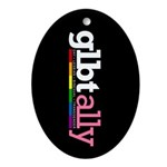 GLBT Ally Oval Ornament