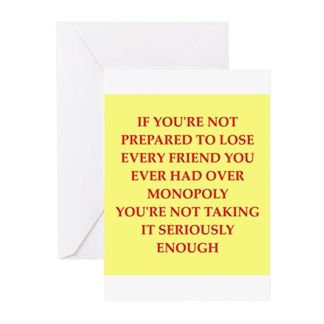 MONOPOLY Greeting Cards (Pk of 10)