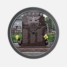 World War II Memorial Wall Clock