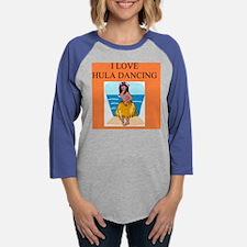 funny dance dancing joke hula Womens Baseball Tee