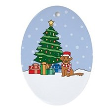Toller Christmas Oval Ornament