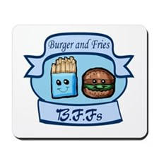 Burger and Fries BFFs Mousepad