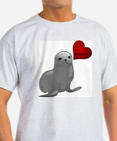 Baby Seal Club and Release Ash Grey T-Shirt