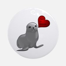 Baby Seal Club and Release Ornament (Round)