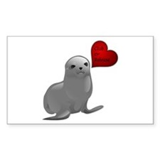 Baby Seal Club and Release Rectangle Decal