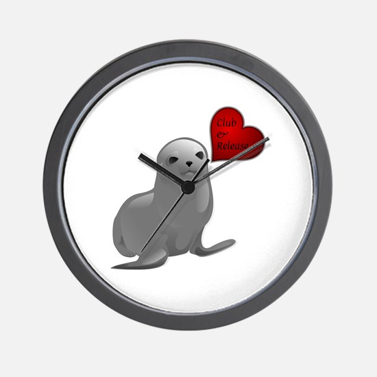 Baby Seal Club and Release Wall Clock