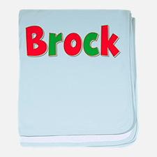 Brock Christmas baby blanket