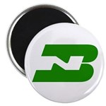 Burlington Northern Round Magnet