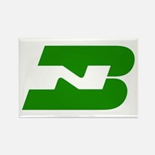 Burlington Northern Rectangle Magnet