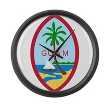 Seal of Guam Large Wall Clock