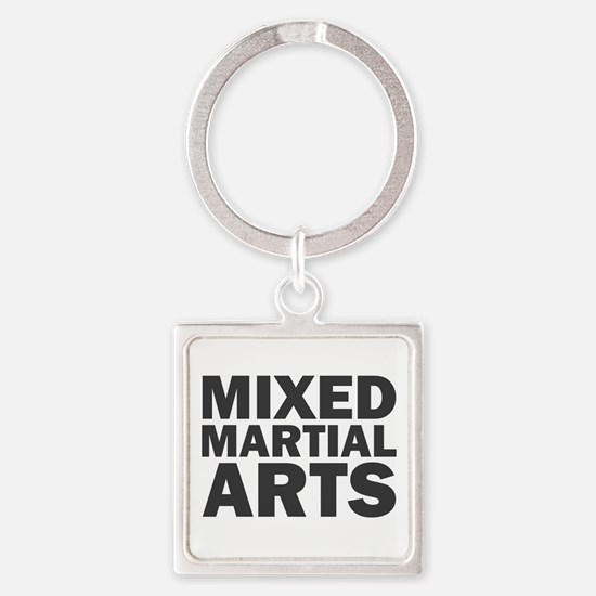 Mixed Martial Arts Square Keychain