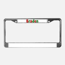 Braden Christmas License Plate Frame