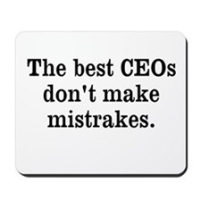 Best CEO Funny Misquote Profound Mousepad