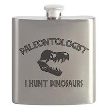 Paleontologist I Hunt Dinosaurs Flask