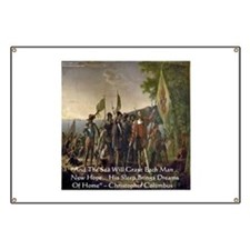 Christopher Columbus Lands Banner