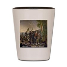 Christopher Columbus Lands Shot Glass