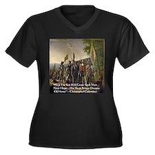 Christopher Columbus Lands Women's Plus Size V-Nec