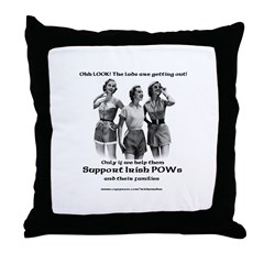 The lads are going home Throw Pillow