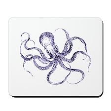 Blue Octopus Mousepad